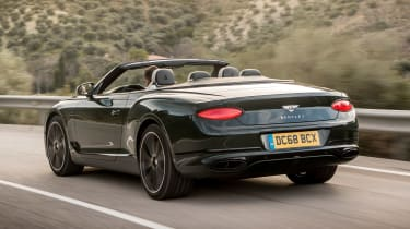 Bentley Continental GT Convertible rear tracking