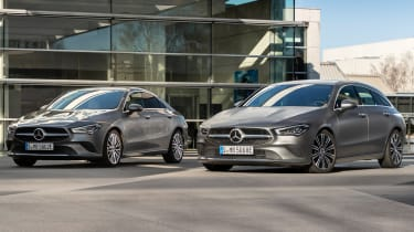 Mercedes CLA and GLA plug-ins - front 3/4