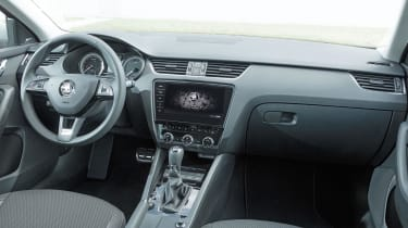 The Scout is available with the upgraded infotainment screen offered throughout the Octavia range, but sat nav is £1,000