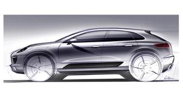 Porsche Macan SUV 2013 drawing