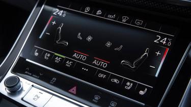 Audi SQ8 - touchscreen ventilation controls