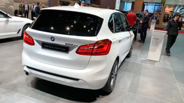 BMW 225xe rear static at the 2019 Geneva Motor Show