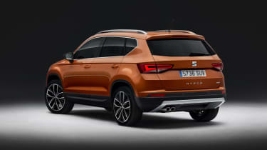The Ateca's bodywork is covered in sharp creases...