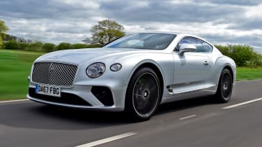 Bentley Continental GT front 3/4 tracking