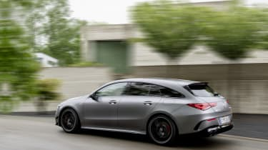 2019 Mercedes-AMG CLA 45 S Shooting Brake - side view passing rear