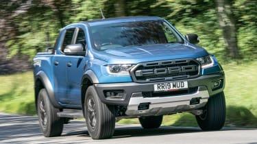 Ford Ranger Raptor pickup front tracking