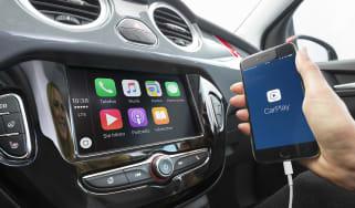 Vauxhall Adam infotainment system