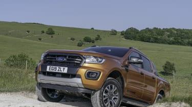 2019 Ford Ranger Wildtrak - front 3/4 offroad