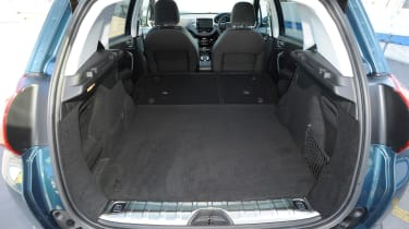 Folding the rear seatbacks does free up useful space for bulky items