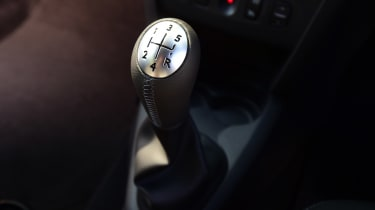 A five-speed manual gearbox is standard, and there's no automatic option