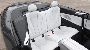 BMW M8 Convertible rear seats