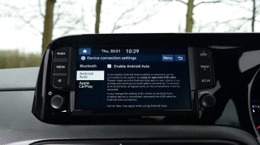 Hyundai i10 hatchback infotainment display
