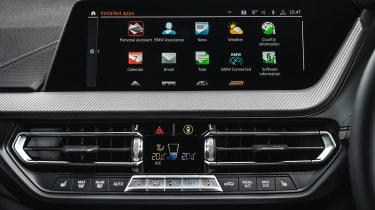 BMW M235i Gran Coupe saloon infotainment display