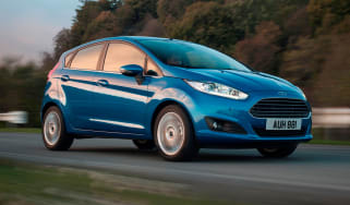 Ford Fiesta EcoBoost supermini 2013 front quarter tracking