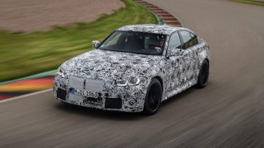 2020 BMW M3 saloon prototype - front 3/4 cornering