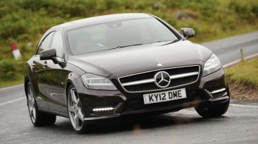Mercedes CLS 2012 front cornering