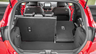 Ford Fiesta hatchback boot right seat folded