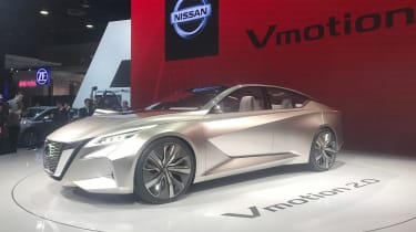 The Nissan Vmotion 2.0 concept is low, long and sleek, and Nissan says it previews the brand's autonomous future.