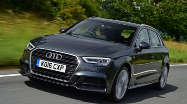Audi A3 Sportback driving - front view