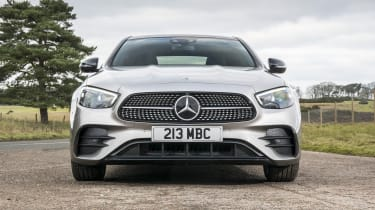 Mercedes E-Class saloon - front on static