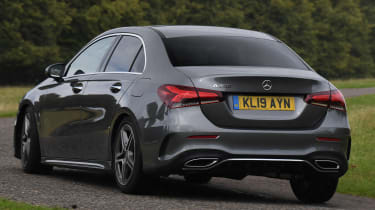 Mercedes A-Class saloon rear cornering