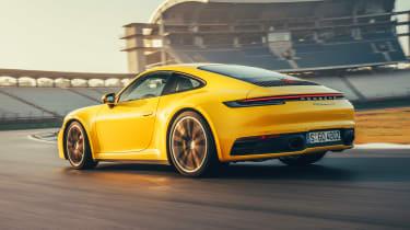 Porsche 911 coupe rear 3/4 track
