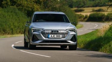 Audi e-tron Sportback SUV front cornering