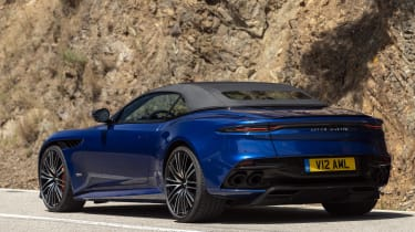 Aston Martin DBS Superleggera Volante rear roof up
