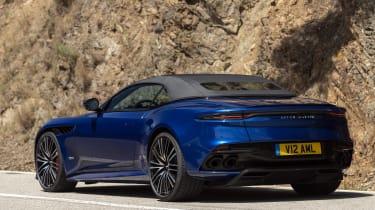 Aston Martin DBS Superleggera Volante rear roof up