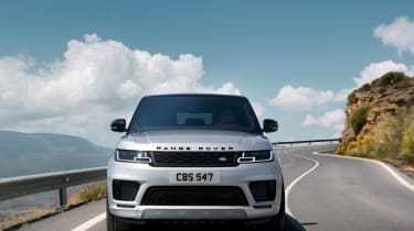 Range Rover Sport HST special edition front view driving