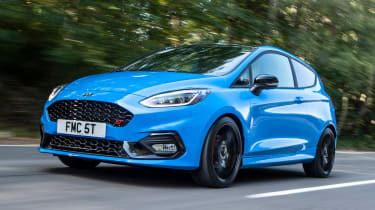 Ford Fiesta ST hatchback front 3/4 tracking
