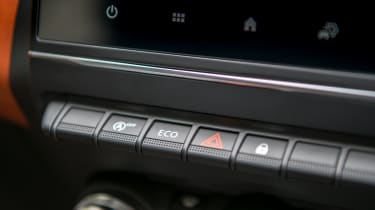 Renault Captur SUV dashboard buttons