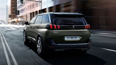 The sixth and seventh seats of the Peugeot 5008 can be stowed away in the boot floor to free up luggage space.