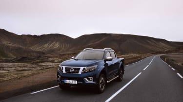 2019 Nissan Navara - front 3/4 dynamic road wider angle