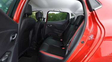 The rear doors make access to the back seats easy, but they are quite cramped because of the sloping roofline