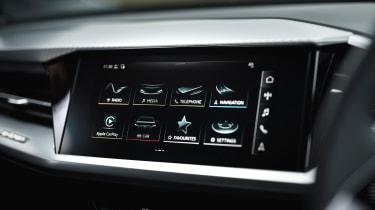 Audi Q4 e-tron SUV infotainment display