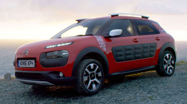 The Citroen C4 Cactus is funky looking inside and out. Those plastic panels are Airbumps that shrug off car park dings