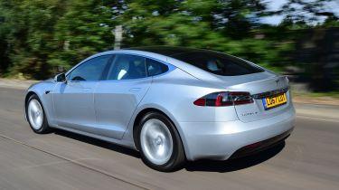 Tesla Model S - rear 3/4 view