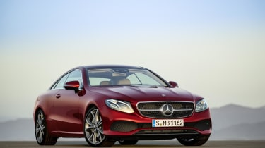When you unlock the E-Class Coupe, the indicator lights sweep from the centre of the car outwards