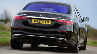 Mercedes S-Class saloon rear cornering
