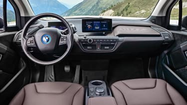 There are no gauges in the BMW i3 – they are replaced with digital screens