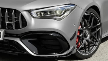2019 Mercedes-AMG CLA 45 S Shooting Brake - front airdam close up