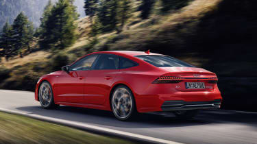 Audi A7 plug-in hybrid driving on road