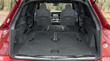 Audi SQ7 SUV boot with two seats