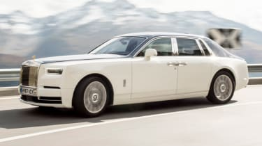 In a first for the Phantom, four-wheel steering is fitted, improving its turning circle and agility