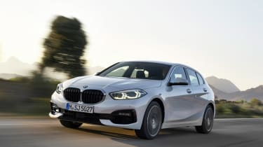 2019 BMW 1 Series front quarter driving