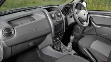 Inside the Dacia Duster is functional rather than luxurious