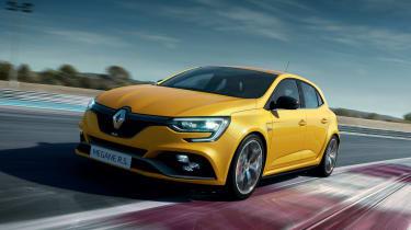 Renault Megane R.S. Trophy on track
