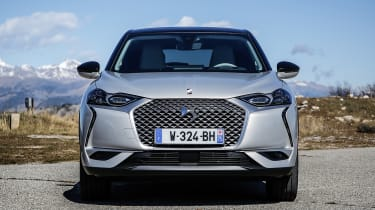 DS 3 Crossback E-Tense pre-production front static