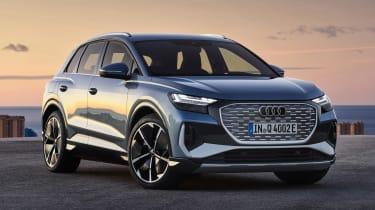 2021 Audi Q4 e-tron SUV - front 3/4 static